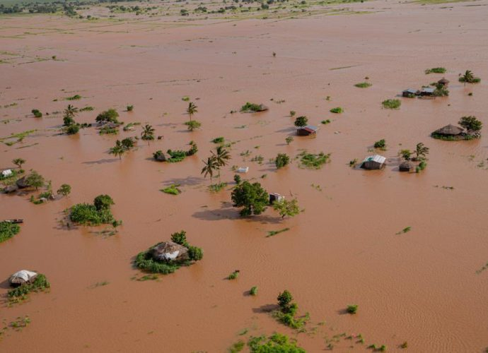 Flooding scene in Quelimane, 300km from Beira landfall (Source: WMO)